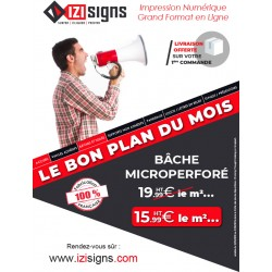 bâche microperforé 440 g