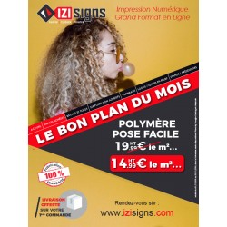 adhesif polymere pose facile - impression numerique grand format -izisigns